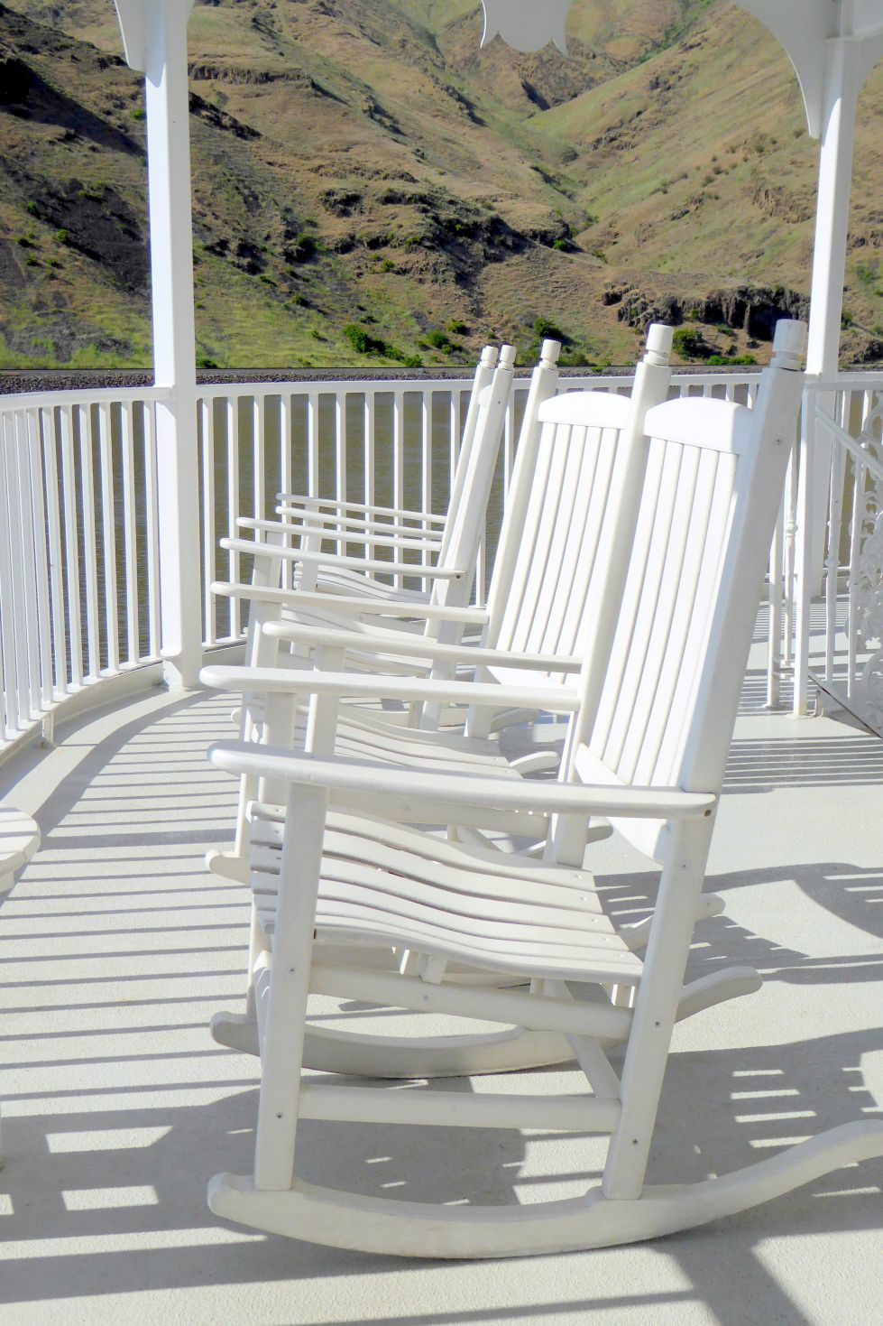There were plenty of rocking chairs on deck.