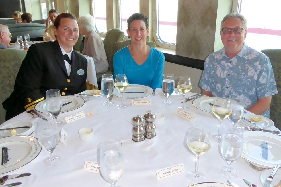 Dining with Captain Andrea Mickelson