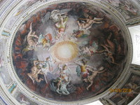Inside of a dome in the Vatican