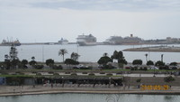 Palma Mallorca Harbor with MSC Fantasia in the background