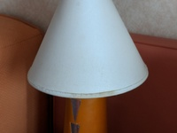 An example of the staining on the lamps, off the bottom rim there.  A nice