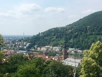 Beautiful view from the gorgeous castle in Heidelberg. I though my favorite