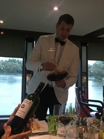 Nicolay opening our wine for us