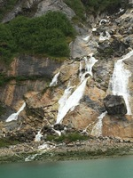One of many waterfalls we saw on the way to Dawes Glacier