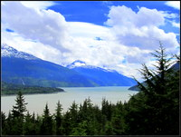 Snapped this photo of scenic Skagway during our Princess sled dog and mushe