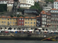 Oporto as seen from a riverboat.