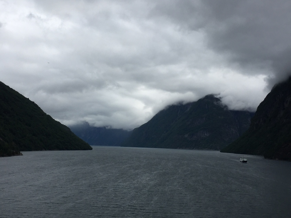 Norwegian Fjords from the ship deck.  Just beautiful!