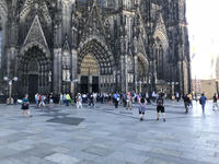 The bottom of the Cologne Cathedral.