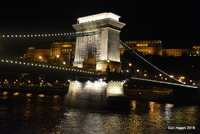 The bridge in Hungary on the Danube at night. Glorious sight to behold. Bud