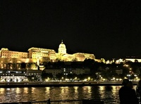 Budapest by night as we arrived