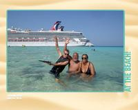 Enjoying the beach at Grand Turk, w/ one one crazy member of the crew, lol.