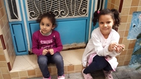 Two sweet little girls in Tangier.