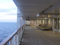 View along the Promenade Deck