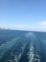Balcony aft wake view #loveawakeatsea