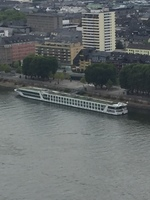 Ship from cablecar in Koblenz