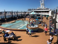 This was the pool when we sailed from Seattle. Later, it was filled and in