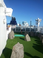 Mini golf, on a ship, yep they did it, and it was great family fun!