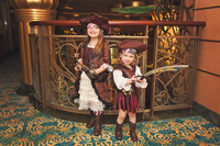 Pirate night - We got the pirate makeup package at the Bibbidi Bobbidi Bout