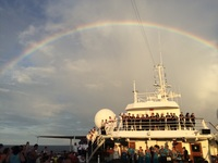 Our last night. The rainbow says it all.