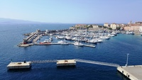 View from our deck of the port at Ajaccio (Corsica), France.  One of the be