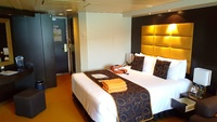 The spacious S3 Aurea experience Suite on MSC Fantasia.  Significantly bigg