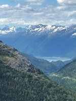 View from White Pass Mountain Railroad excursion in Skagway