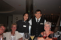 Chich evening dinner with the restaurants staff