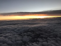 Ecuador sunset from our plane.