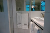 Stateroom 431 bathroom - heated towel bar!