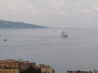 Anchored off Sorrento Italy.