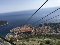 Cable car in Dubrovnik-really neat and also can see forever when st the top