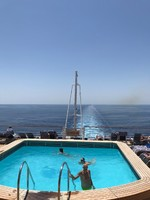 Adults only pool, aft on ship.