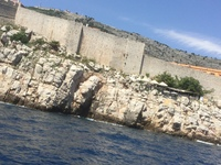 Excursion at Dubrovnik. location of