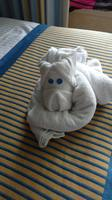 One of our towel creatures. Wayan our cabin steward was excellent!