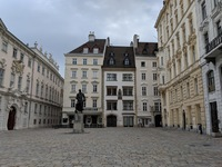 Judenplatz - center of Jewish Community in Middle Ages. A courtyard with no