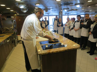 The Chef in the Culinary Center, hands-on demonstration