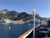 Breakfast in front of the Amalfi coast