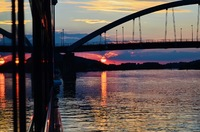 Our first sunset on board in Vilshofen on the Danube.