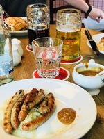 Sausage lunch in Regensberg.