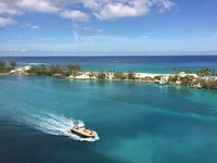 View from our balcony heading into Nassau, Bahamas