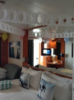 Balcony cabin: decorated for our anniversary