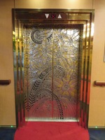 Beautiful elevator doors
