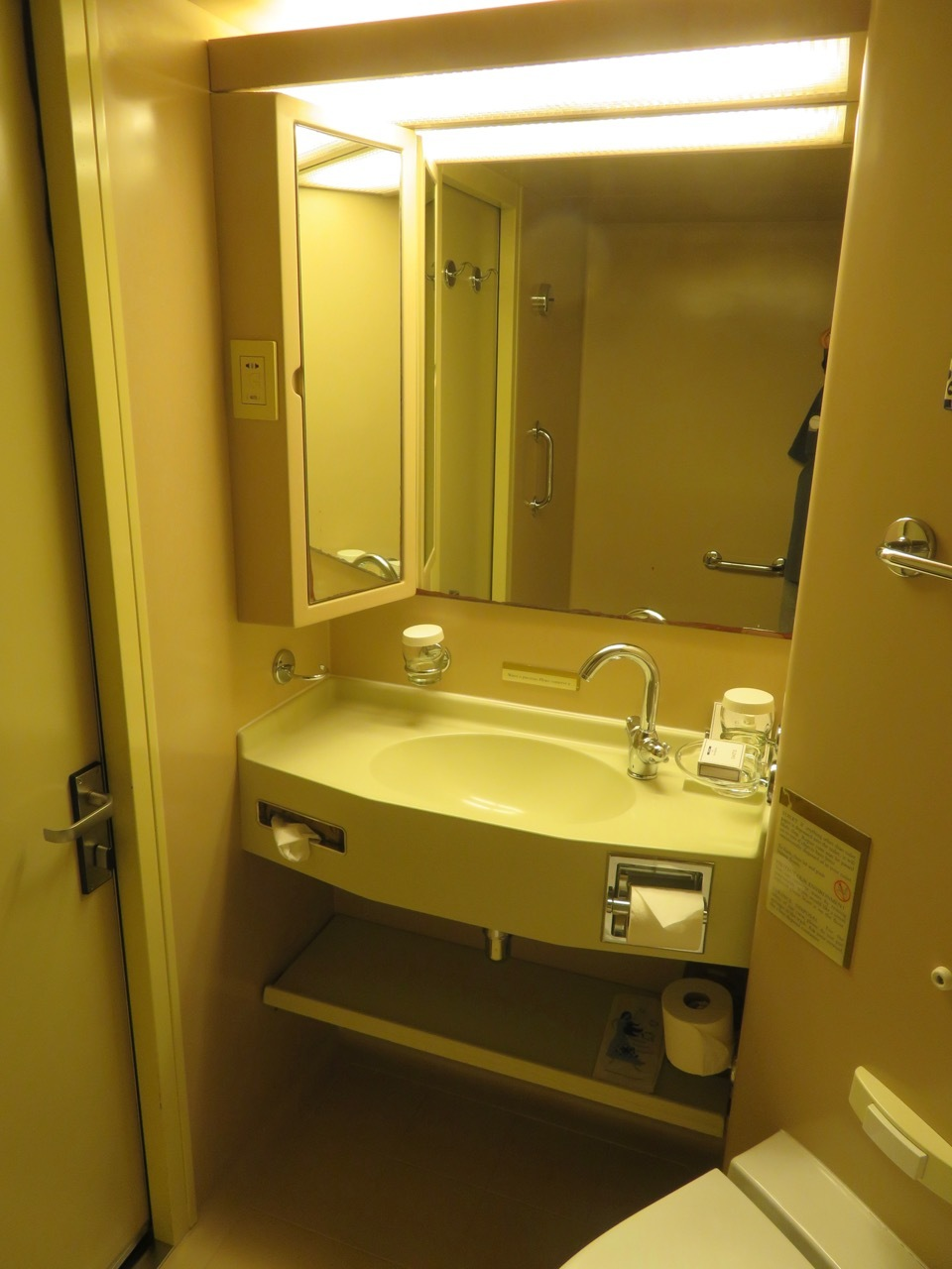 Deck 1 cabin bathroom