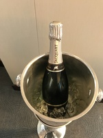 Welcome bottle of Champagne in PH suite.