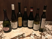 Wines served during a La Reserve wine dinner.
