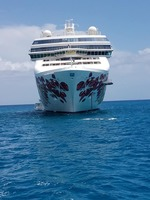 Photo of the Ship from Great Stirrup Cay