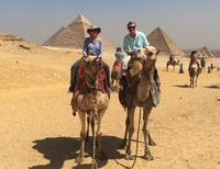 Camel ride at the Giza Pyramids