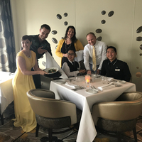 As our request, we had Lalita and Bernard for our waiters at the Opus resta