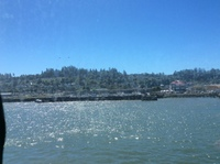 Sailing into Astoria.