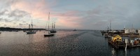 Sunset in the port at Vineyard Haven, on Martha's Vineyard, from the top